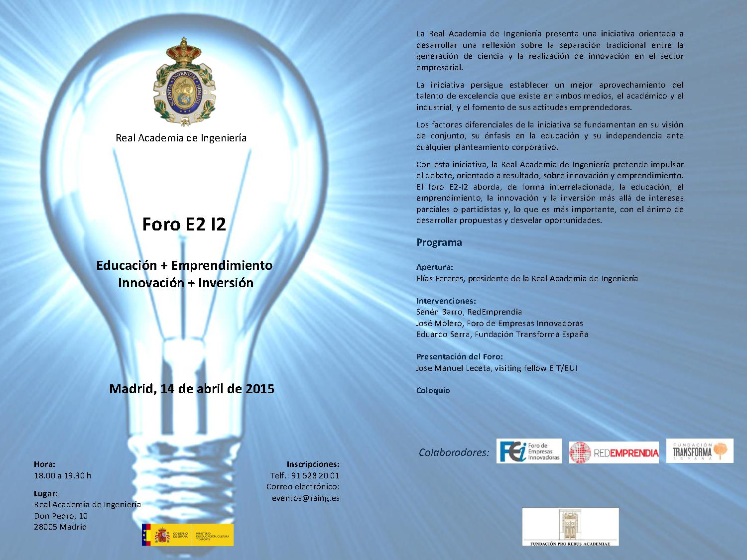 E2 I2 Forum - Education + Entrepreneurship + Innovation + Investment